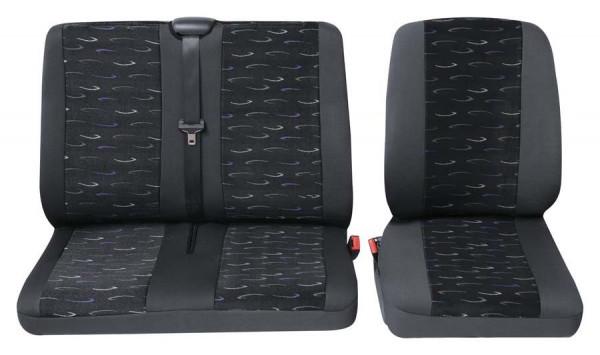 Profi2 Einzelsitz/Doppelsitz vorne 2-tlg. blau