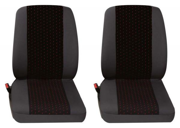 Profi1 2x Einzelsitz vorne 2-tlg. rot passend für Renault Kangoo Rapid 2-Sitzer ab 01/2008 bis jetzt