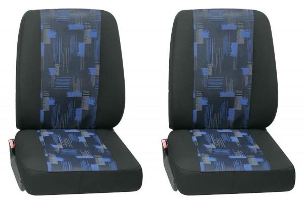 Isar 2x Einzelsitz vorne 2-tlg. blau passend für Fiat Ducato Wohnmobil ab 01/2015 bis jetzt