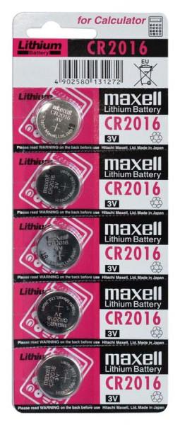 Maxell Lithium 2016 5er Blister