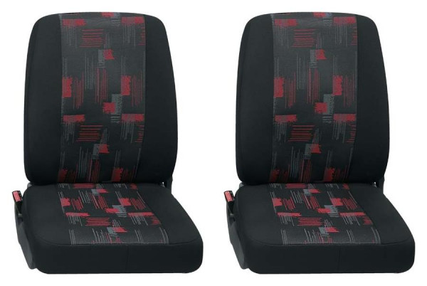 Isar 2x Einzelsitz vorne 2-tlg. rot