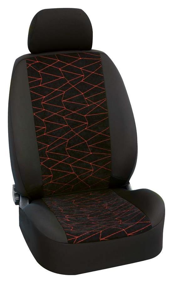 Sitzbezug First Class Puzzle rot Komplettgarnitur