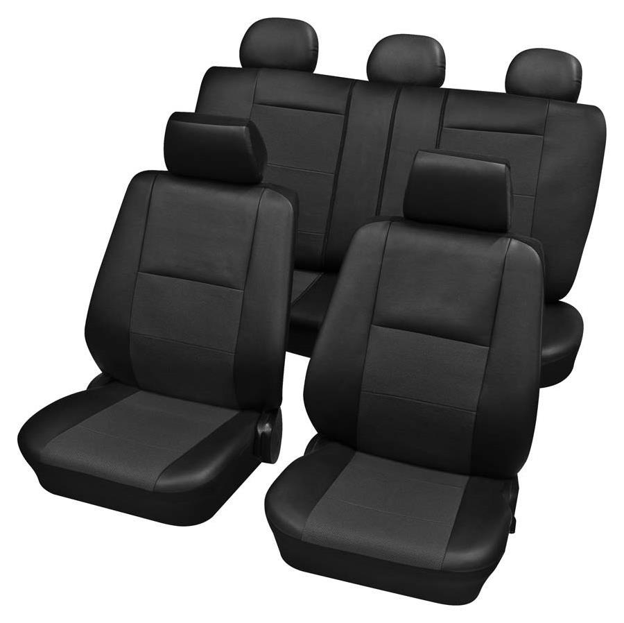 Sitzbezugset Universal Eco Class Elba anthrazit 15-teilig Größe SAB 2 Vario Plus