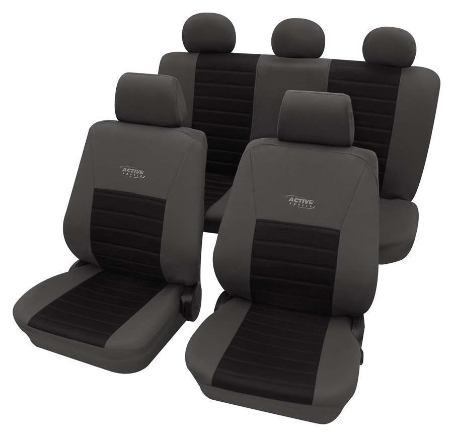 Sitzbezugset Universal Eco Class Active Sports schwarz 11-teilig Größe SAB 1 Vario