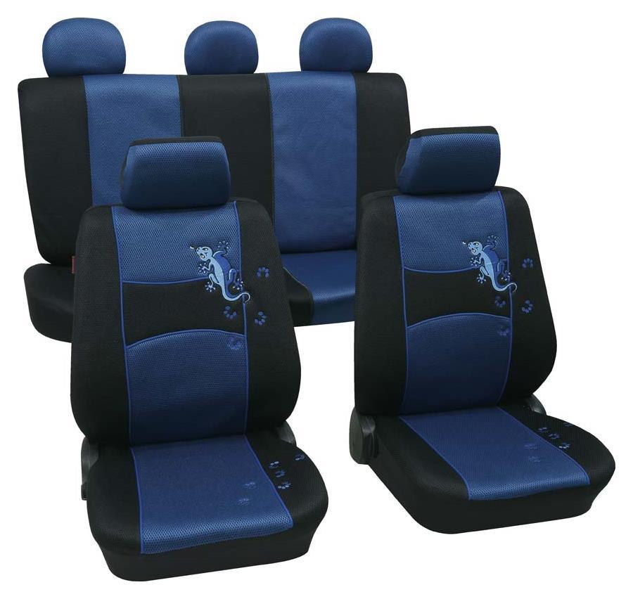 Sitzbezugset Universal Eco Class Gecko blau 11-teilig Größe SAB 1 Vario