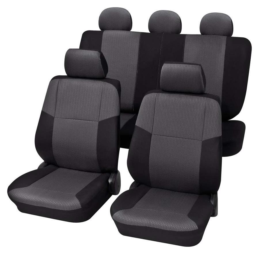 Sitzbezugset Universal Eco Class Sylt schwarz 15-teilig Größe SAB 2 Vario Plus