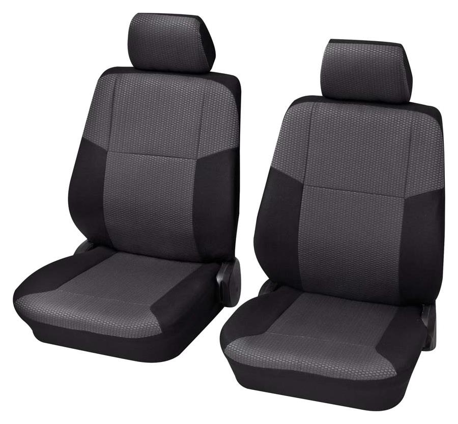 Sitzbezug Universal Eco Class Sylt schwarz Vordersitzgarnitur 4-teilig Größe SAB 2
