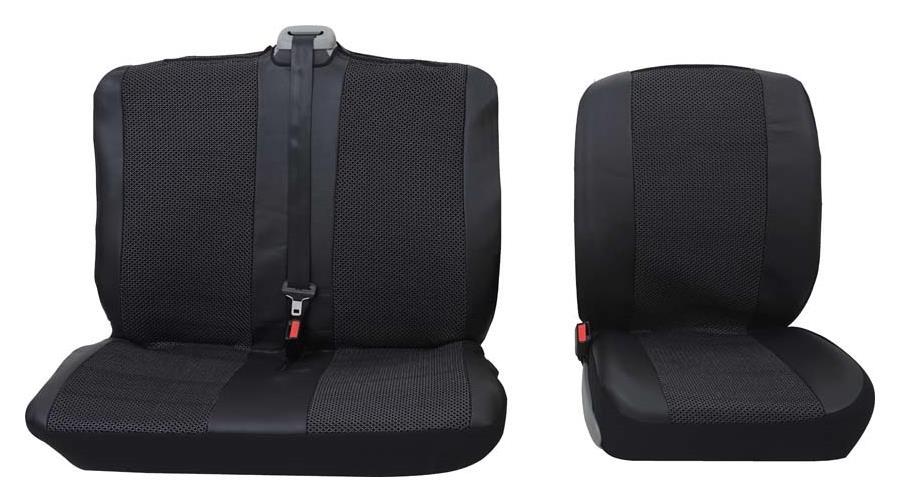 Sitzbezug Universal Eco Class Profi 5 silber bestehend aus Einzelsitz und Doppelsitz 2-teilig