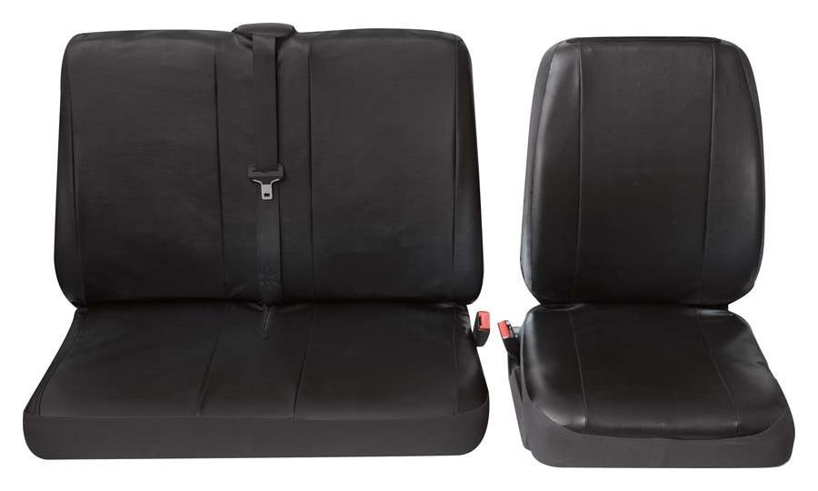 Sitzbezug Universal Eco Class Profi 4 schwarz bestehend aus Einzelsitz und Doppelsitz 2-teilig