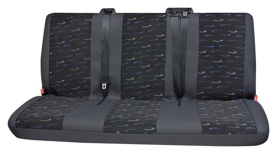 Sitzbezug Universal Eco Class Profi 2 blau bestehend aus 3er Bank hinten 1-teilig