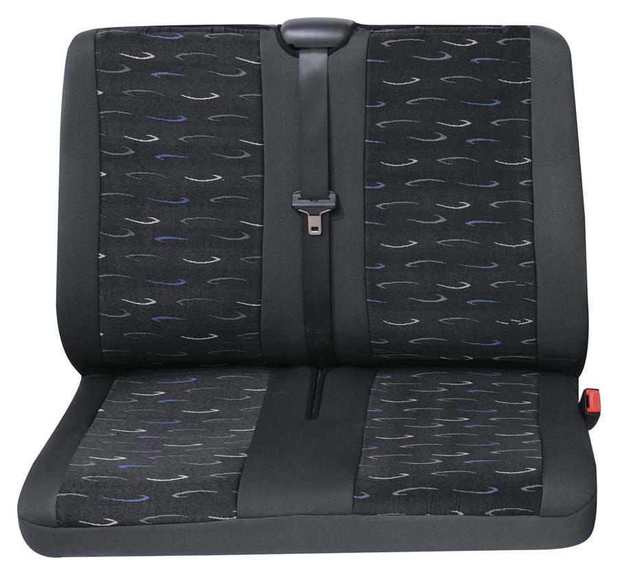 Sitzbezug Universal Eco Class Profi 2 blau bestehend aus Doppelsitz hinten 1-teilig