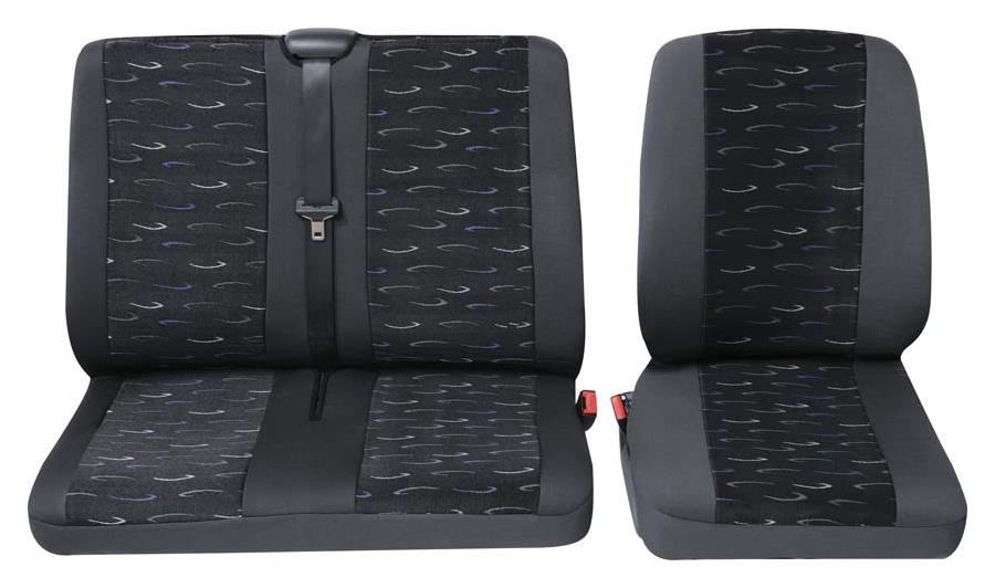 Sitzbezug Universal Eco Class Profi 2 blau bestehend aus Einzelsitz und Doppelsitz 2-teilig
