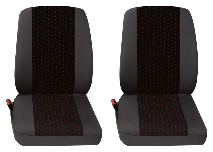 Sitzbezug Universal Eco Class Profi 1 rot bestehend aus zwei Einzelsitzen 2-teilig