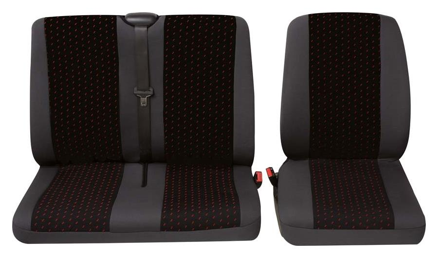 Sitzbezug Universal Eco Class Profi 1 rot bestehend aus Einzelsitz und Doppelsitz 2-teilig