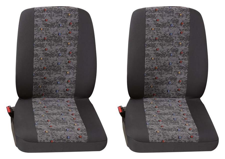 Sitzbezug Universal Eco Class Profi 3 grau bestehend aus zwei Einzelsitzen 2-teilig