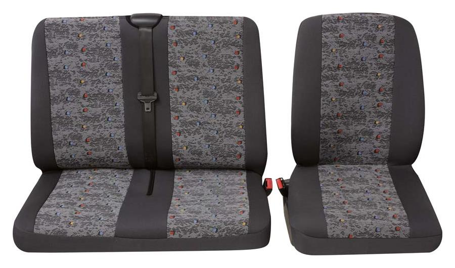 Sitzbezug Universal Eco Class Profi 3 grau bestehend aus Einzelsitz und Doppelsitz 2-teilig