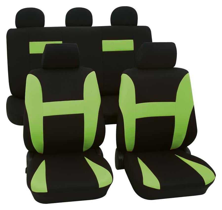 Sitzbezugset Universal Eco Class Neon grün 11-teilig Größe SAB 1 Vario