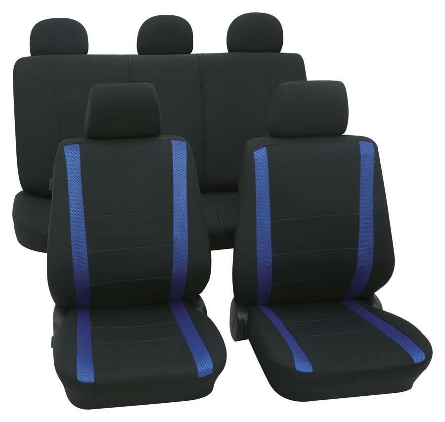 Sitzbezugset Universal Eco Class Samoa blau 11-teilig Größe SAB 1 Vario