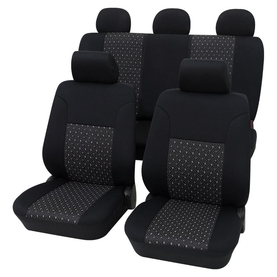Sitzbezugset Universal Eco Class Ambiente schwarz 11-teilig Größe SAB 1 Vario