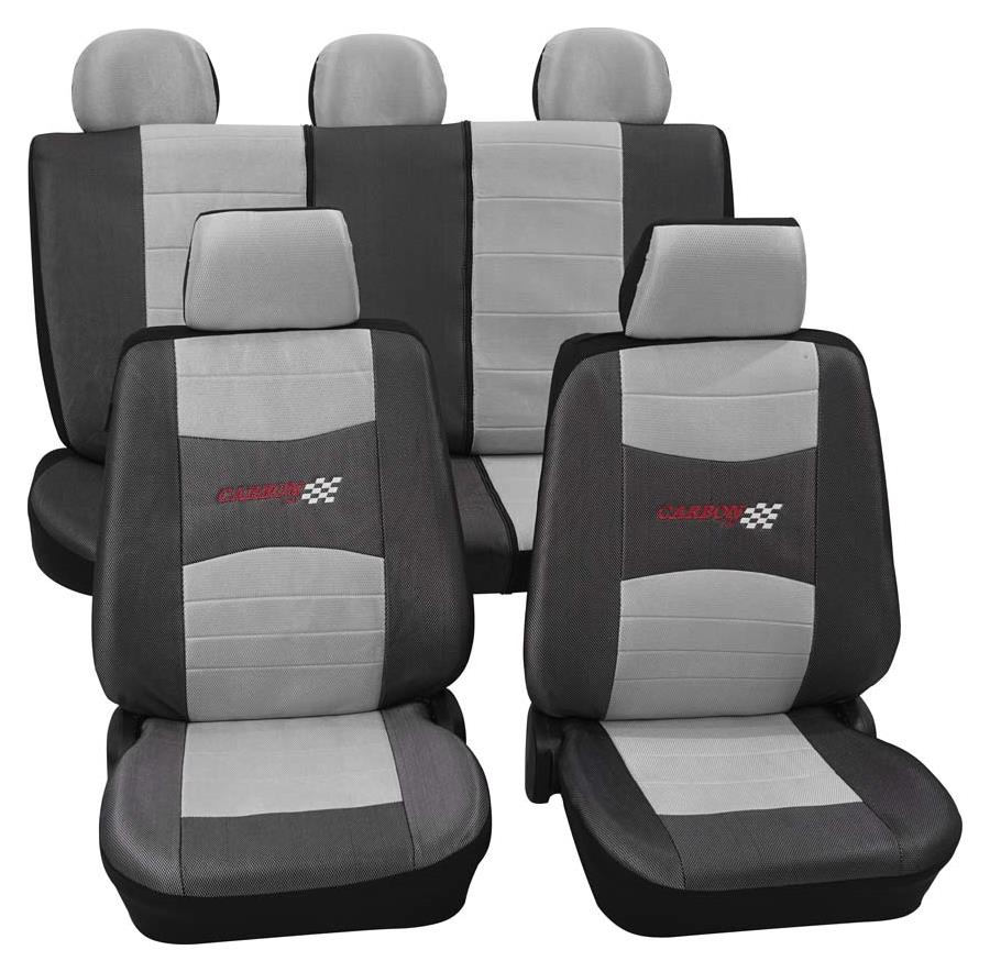 Sitzbezugset Universal Eco Class Carbon silber 11-teilig Größe SAB 1 Vario