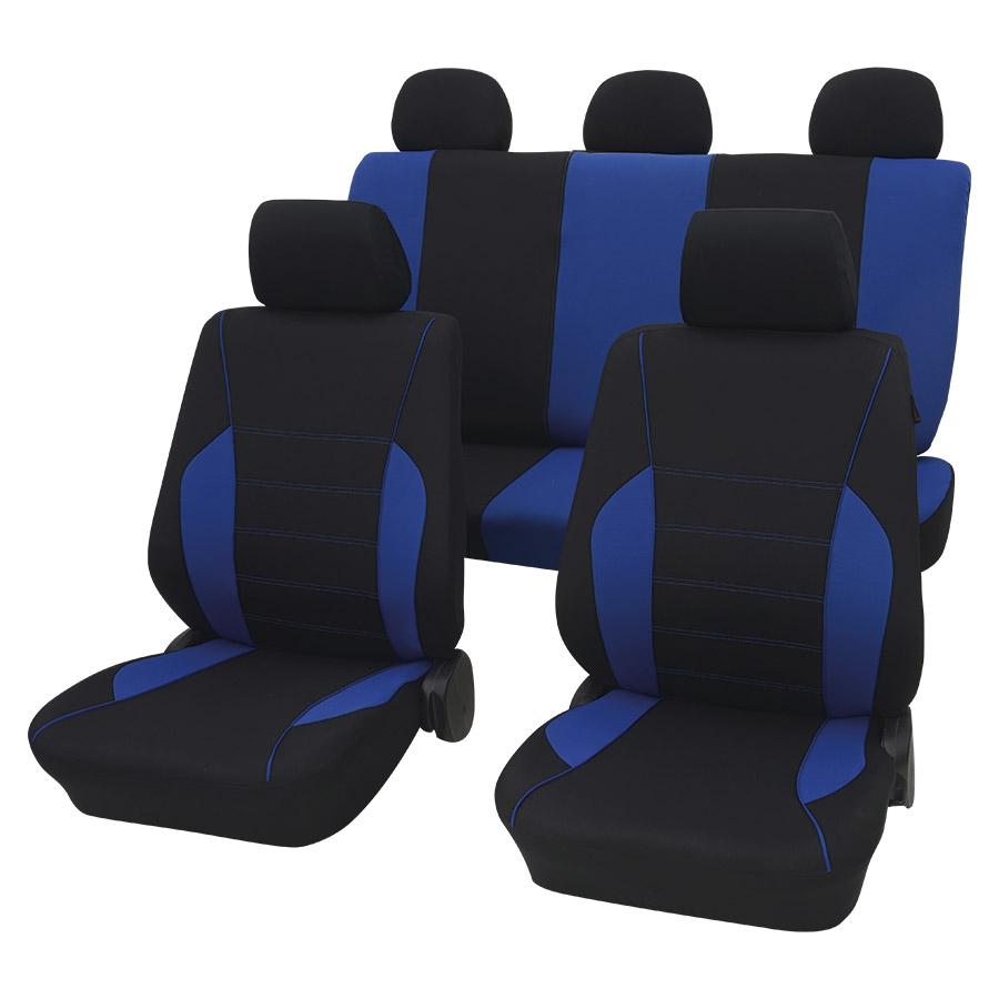 Sitzbezugset Universal Eco Class Rostock blau 11-teilig Größe SAB 1 Vario