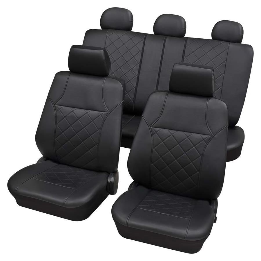 Sitzbezugset Universal Eco Class Arizona schwarz 15-teilig Größe SAB 2 Vario Plus