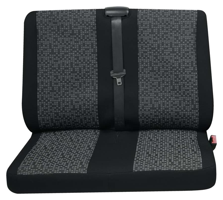 Sitzbezug Universal Business Class Rhein grau Doppelsitz hinten 1-teilig
