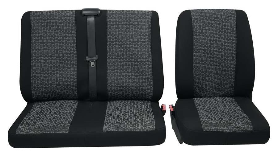 Sitzbezug Universal Business Class Rhein grau Einzelsitz und Doppelsitz 3-teilig