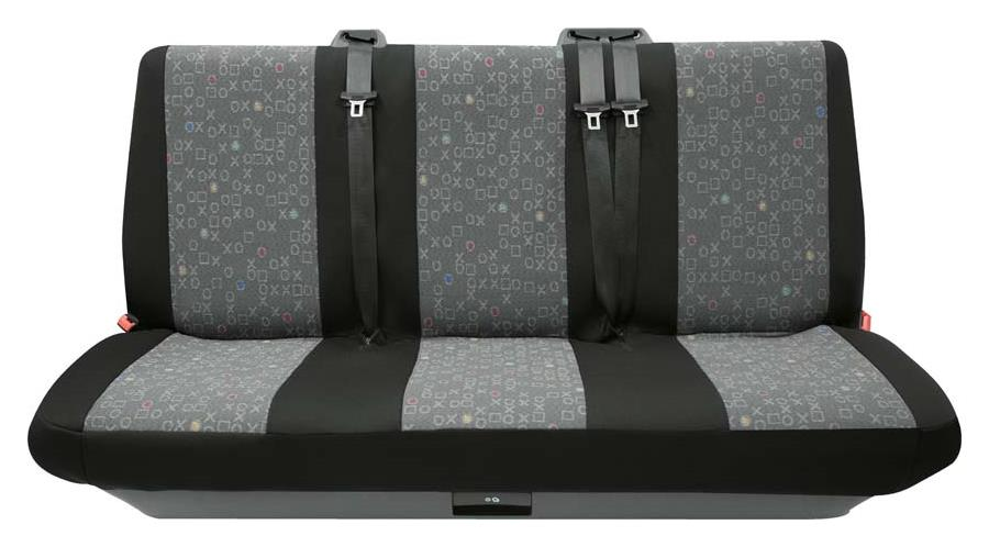 Sitzbezug Universal Business Class Lech graphit 3er Bank hinten 1-teilig