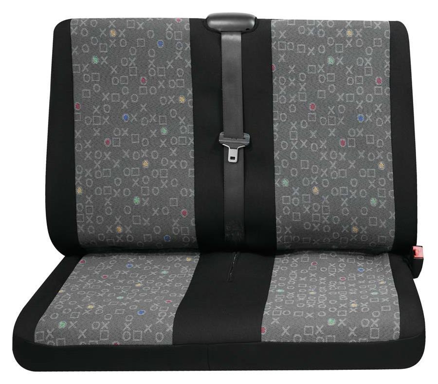 Sitzbezug Universal Business Class Lech graphit Doppelsitz hinten 1-teilig