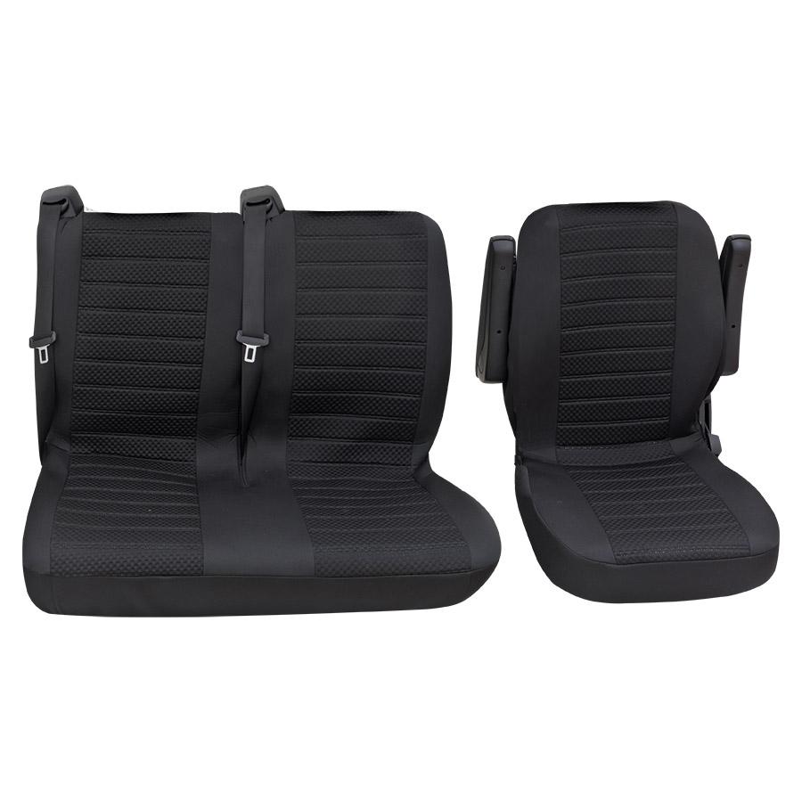 Sitzbezug Universal Business Class Fulda schwarz Einzelsitz und Doppelsitz 3-teilig