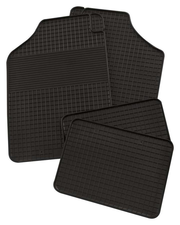 Gummimatte Universal 4-teilig schwarz Standard Größe 1