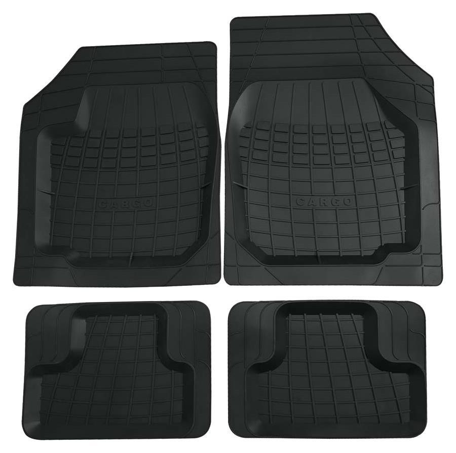 Gummimatte Universal 2-teilig schwarz Cargo Größe 0 vorne