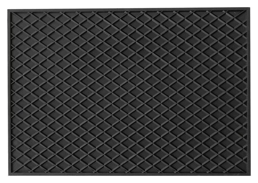 Rechteckmatte 43 x 30 cm schwarz