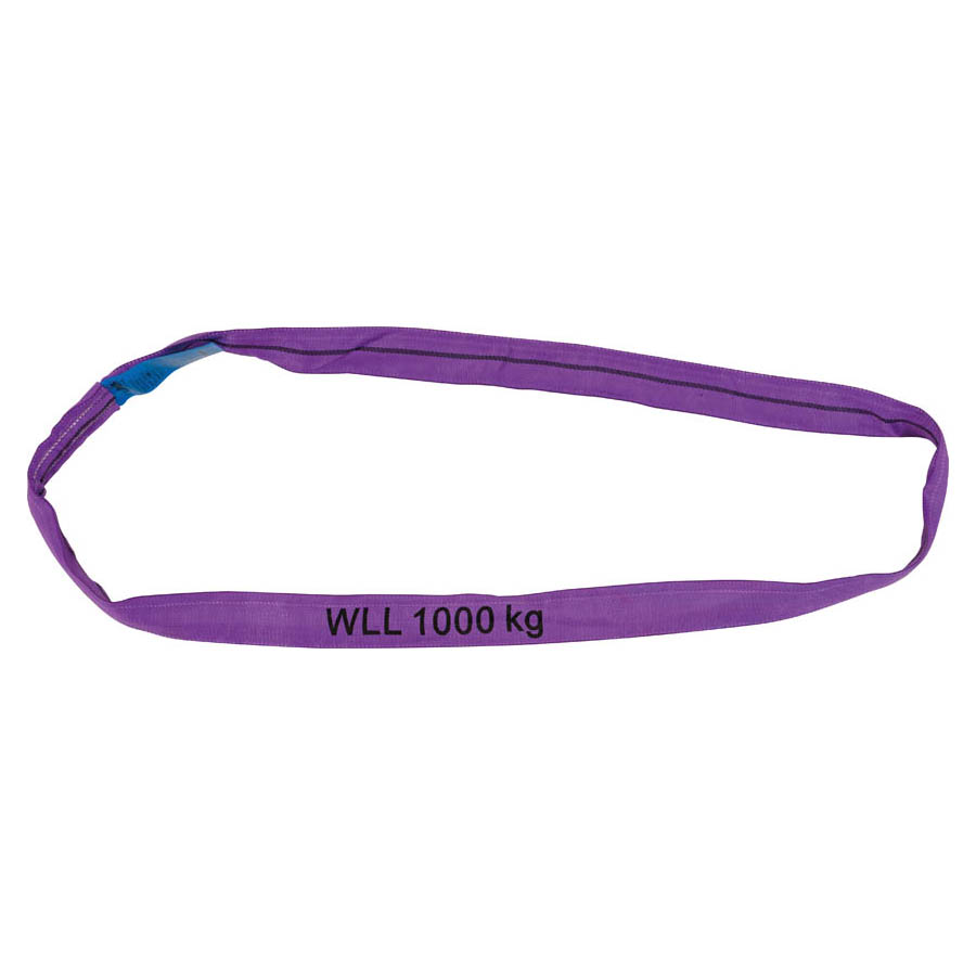 Rundschlinge WLL 1.000 kg, Länge 1 m, Umfang 2 m, violett