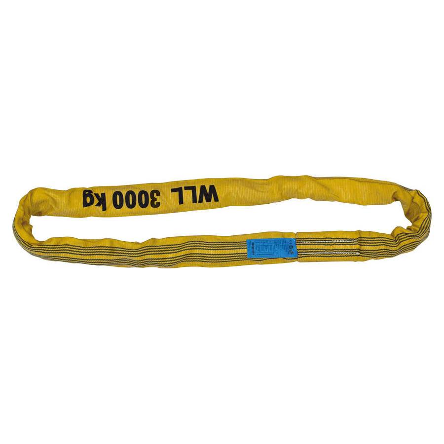 Rundschlinge WLL 3.000 kg, Länge 1 m, Umfang 2 m, gelb