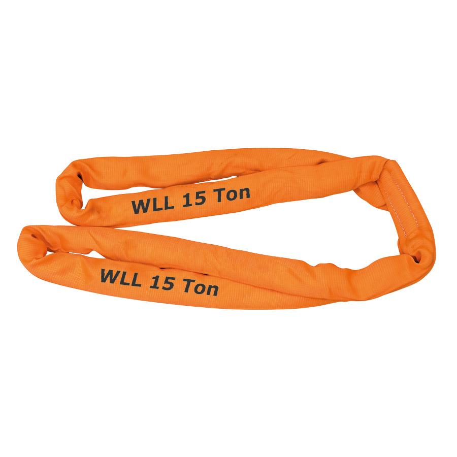 Rundschlinge WLL 15.000 kg, Länge 3 m, Umfang 6 m, orange