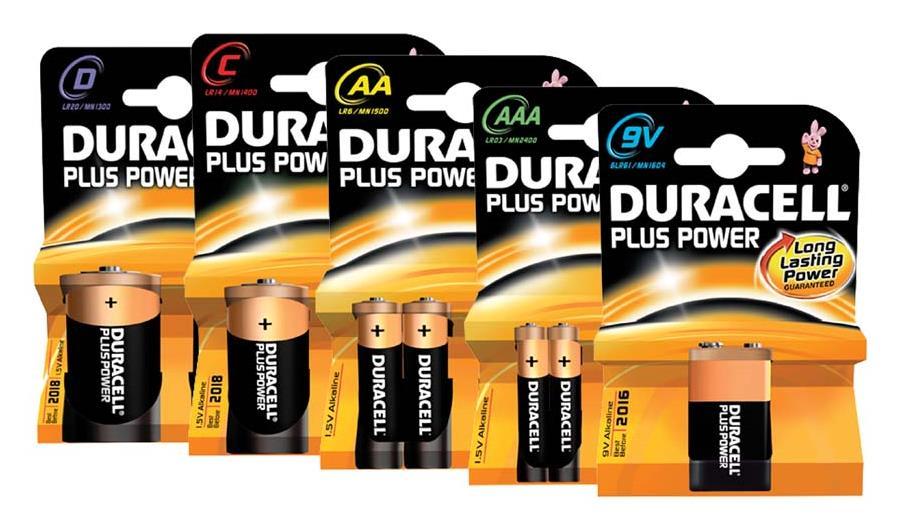 Duracell Plus Power-AA Batterie MN1500/LR06, 4er Blister