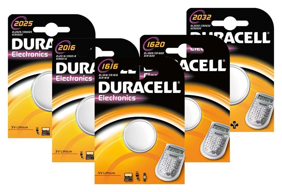 Duracell Electronics 1616 Knopfzelle DL1616B1, 1er Blister