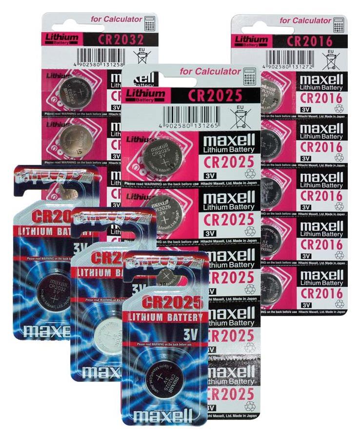 Maxell Lithium 2025 Knopfzelle ML2025B1, 1er Blister