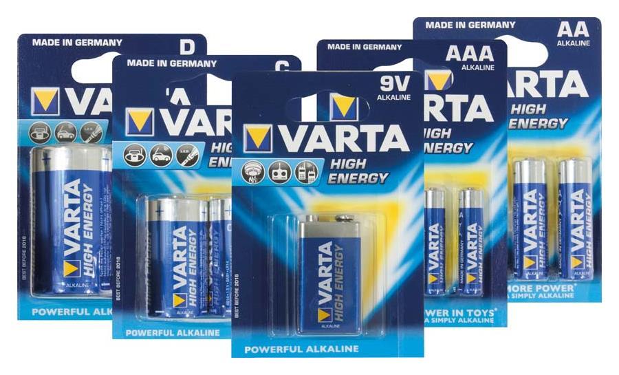 Varta High Energy-AA Batterie MN1500/LR06, 4er Blister