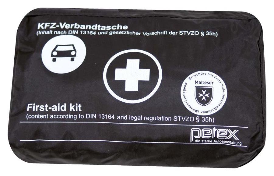 auto verbandskasten verbandstasche kfz fahrzeug verbandtasche kfz din13164 schw ebay. Black Bedroom Furniture Sets. Home Design Ideas