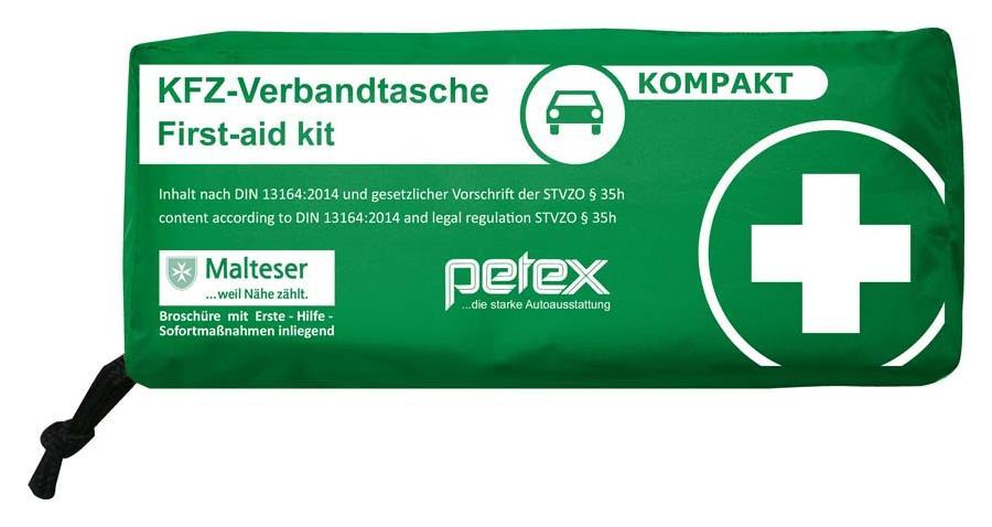 Verbandtasche Kompakt Inhalt nach DIN 13164:2014 grün
