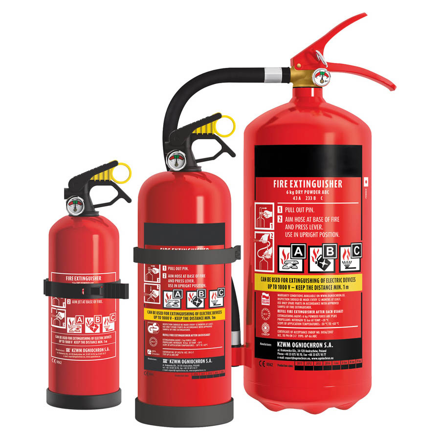 Feuerlöscher nach DIN EN3 Dauerdrucklöscher mit Manometer Inhalt: 1 KG Farbe: rot