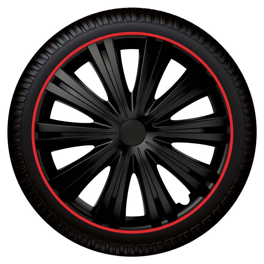 Radzierblende Giga R schwarz/rot Größe 14