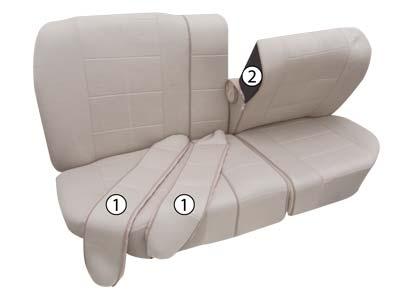 Rücksitzbezug Vario Plus mit Reißverschluss