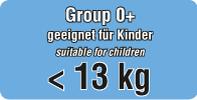 geeignet für Kinder von 0 - 13 Kg