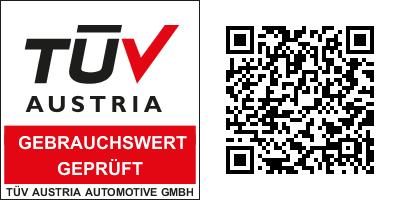 Kindersitz geprüft und zertifiziert vom TUEV AUSTRIA