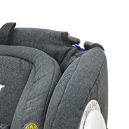 höhenverstellbare Kopfstütze mit Seitenaufprallschutz, Kindersitz, Modell King