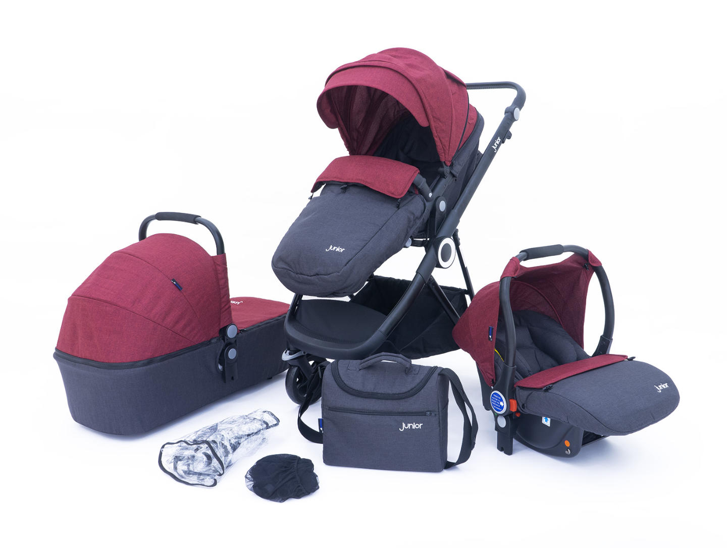 Multi Traveller 3-in-1 Kombi-Kinderwagenset, 10-teilig